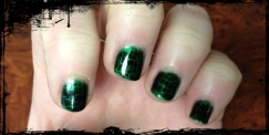 Forest Green base coat with Scale stamp (Mash-27) in Black